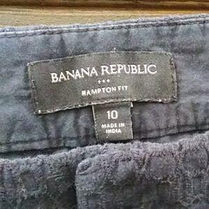 "Banana Republic Shorts - Banana Republic ""Hampton"" Navy Crochet Short Sz10"